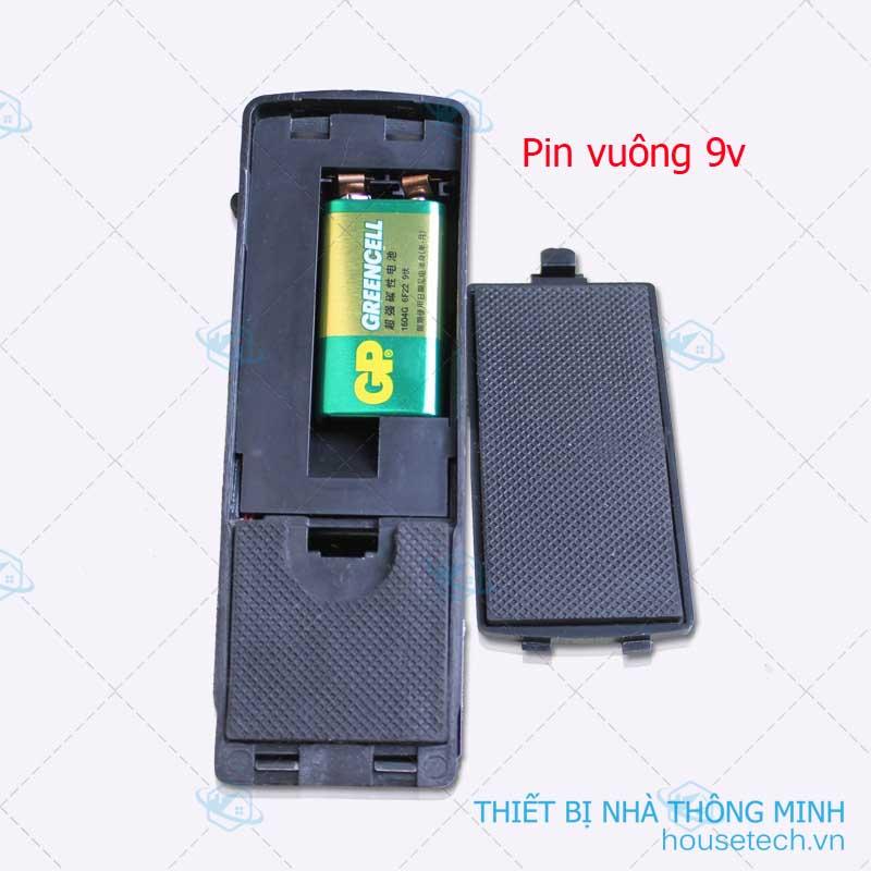 Pin vuông 9v dễ dang tìm mua và thay thế
