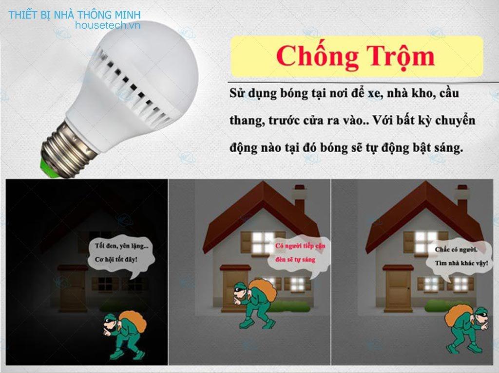 Bóng đèn cảm ứng chống trộm