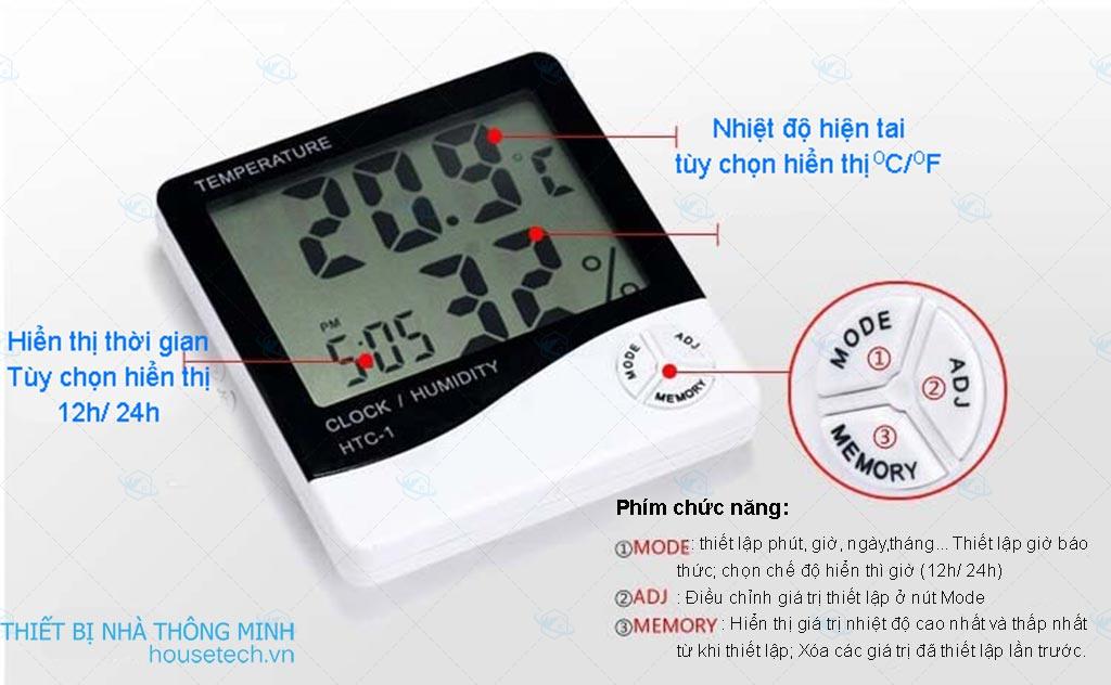 Nhiệt kế ẩm kế HTC-1