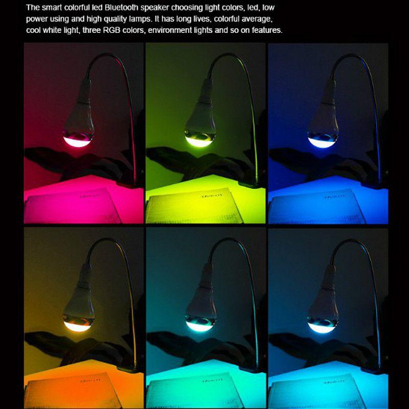 Bóng đèn led đổi màu theo nhạc kiêm loa bluetooth RGB-BT5