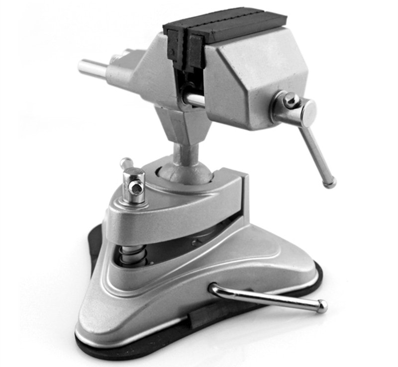 Ê tô mini 360 hút chân không mặt bàn