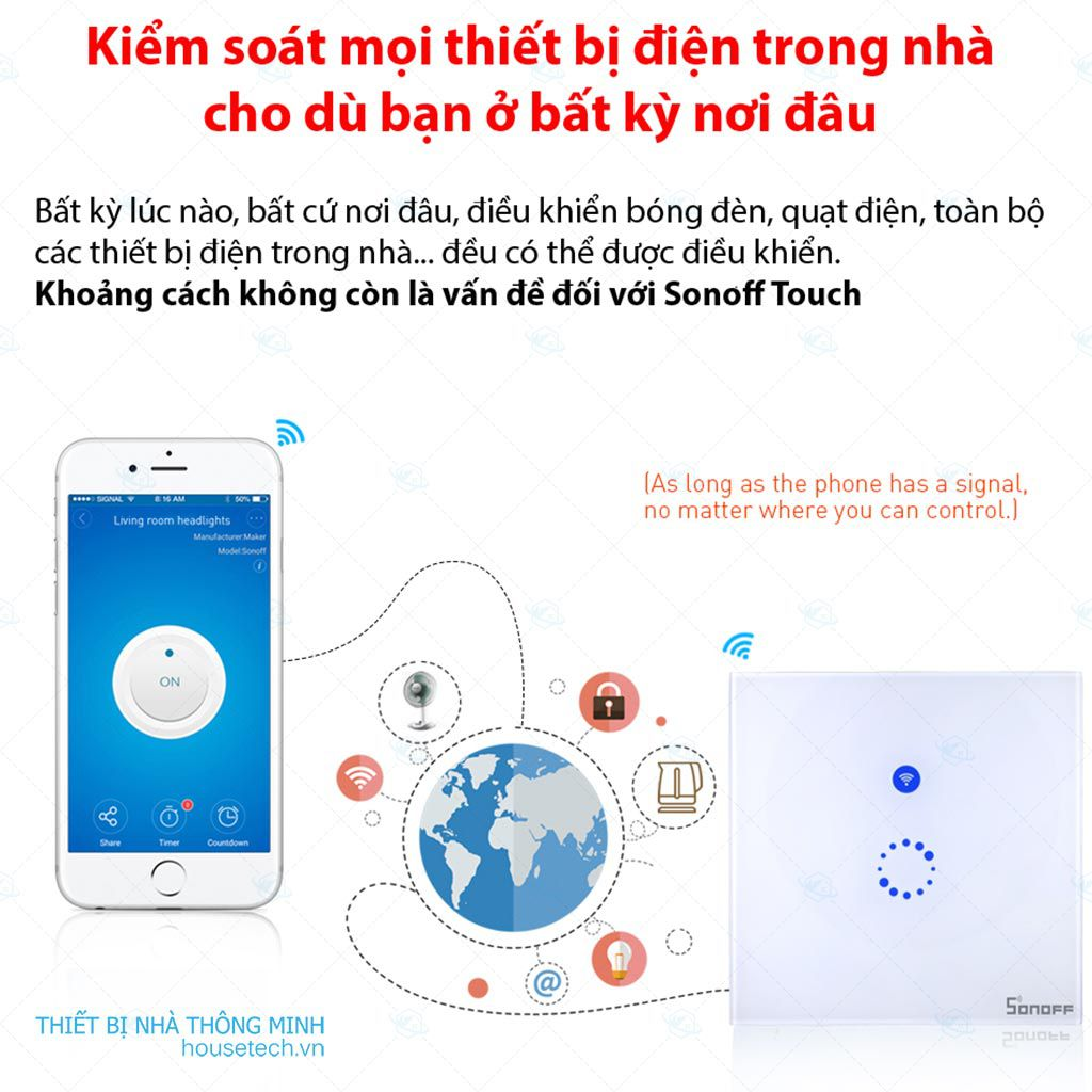 Công tắc cảm ứng điều khiển từ xa Sonoff Touch