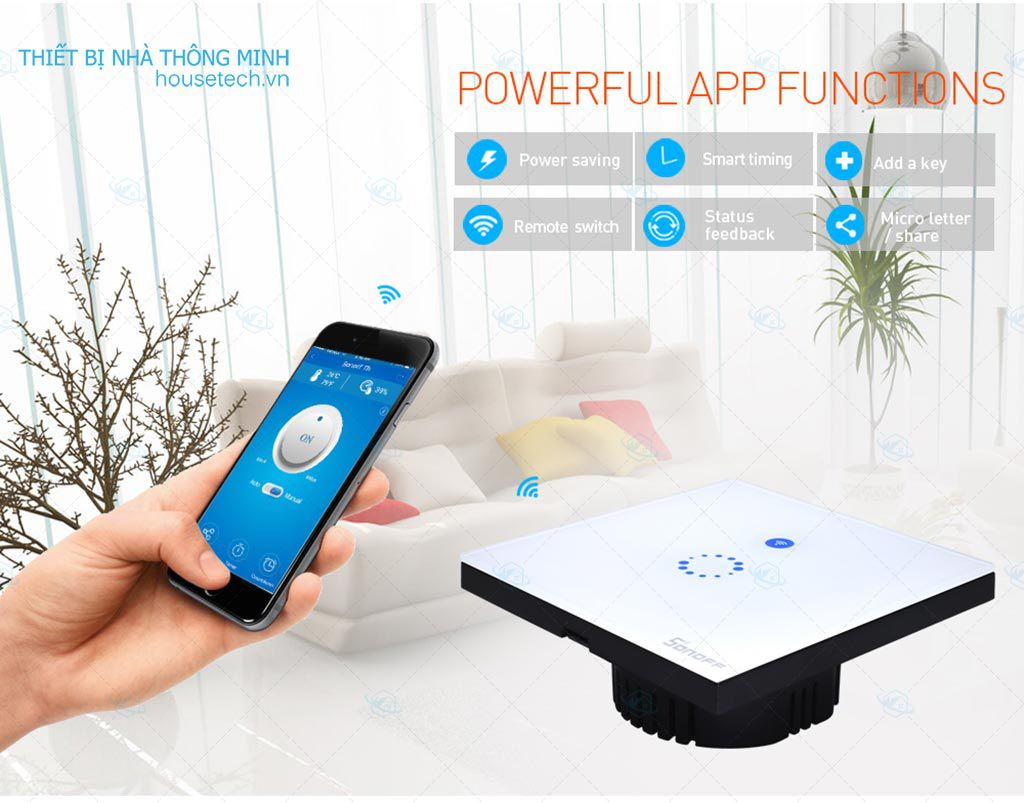 Công tắc cảm ứng wifi Sonoff Touch