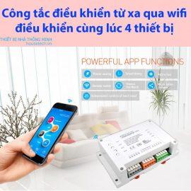 Công tắc điện điều khiển tù xa bằng điện thoại Sonoff 4ch
