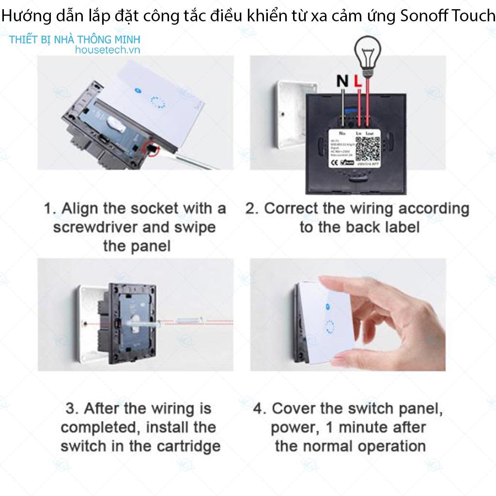 Công tắc cảm ứng điều khiển từ xa wifi Sonoff Touch