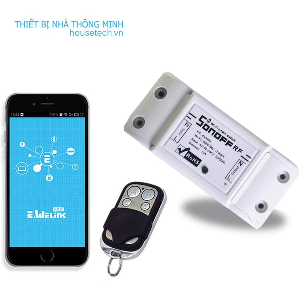 Công tắc điều khiển từ xa bằng điện thoại wifi RF