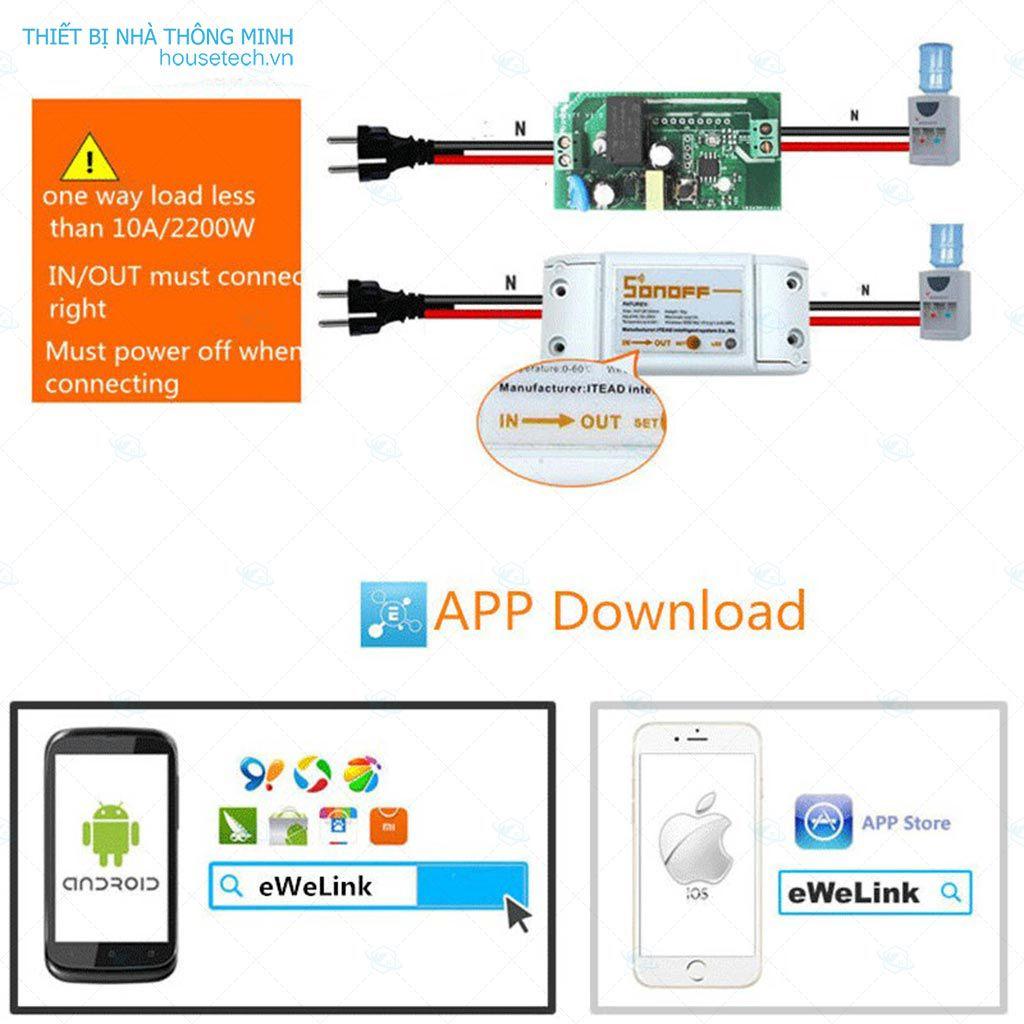 Công tắc điều khiển từ xa Wifi và RF
