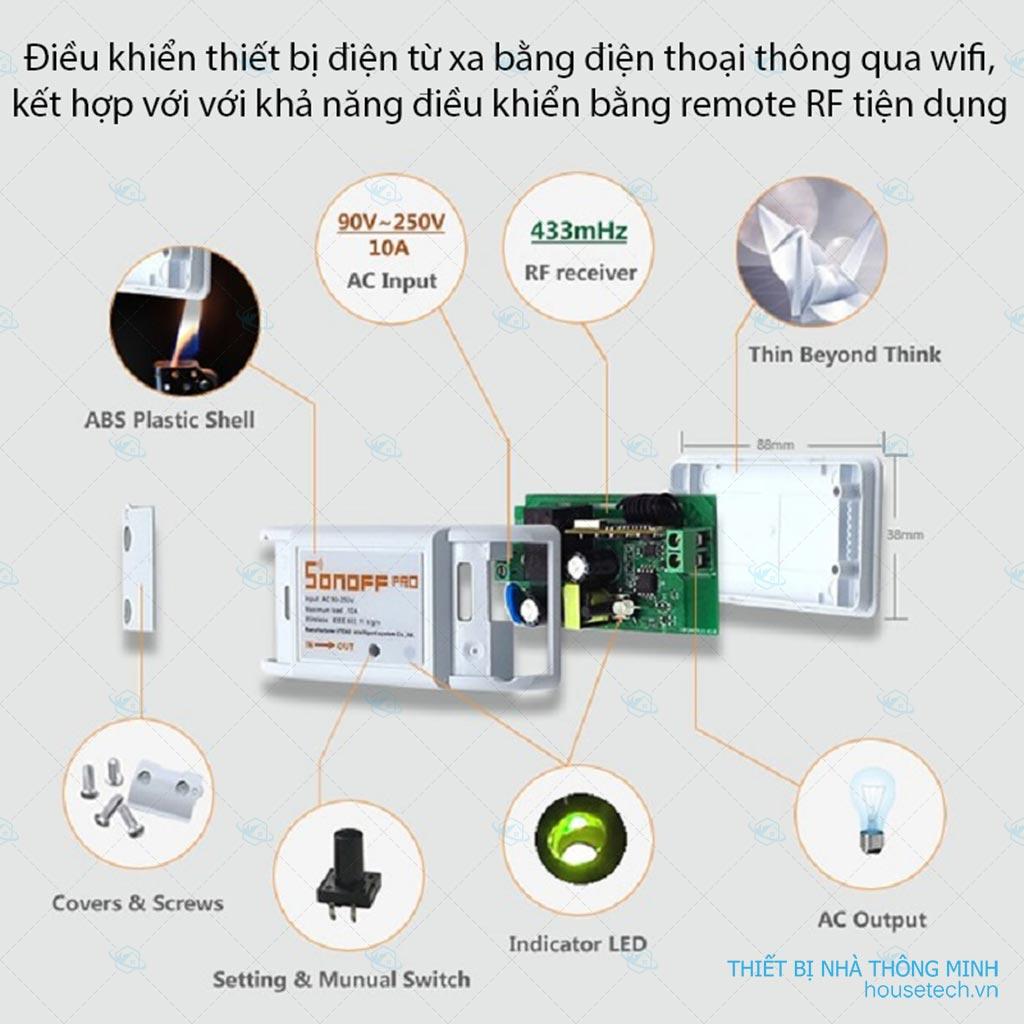 Công tắc điều khiển từ xa wifi Sonoff RF