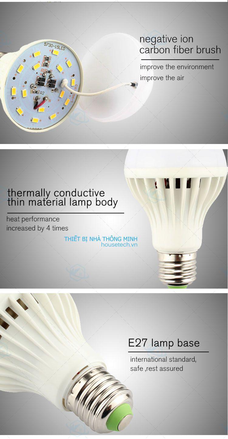 Bóng đèn led lọc không khí giá rẻ