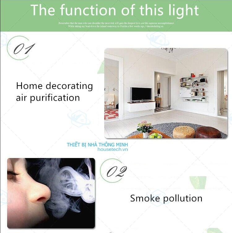 Bóng đèn led lọc không khí