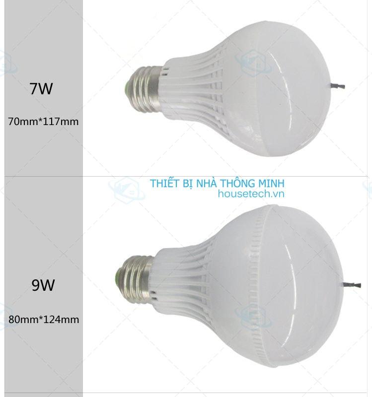 đèn led 7w làm sạch không khí