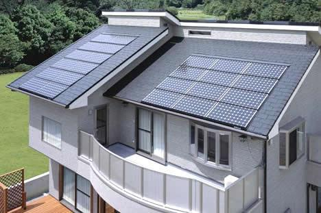 Mái nhà sử dụng tấm pin năng lượng mặt trời