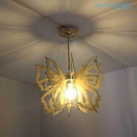 Đèn gỗ treo trần hình cánh bướm