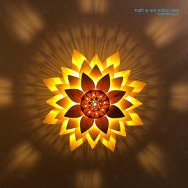 Đèn ốp trần nhà hình hoa sen Ht592
