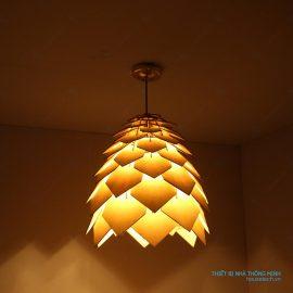 Đèn treo phòng ăn bằng gỗ