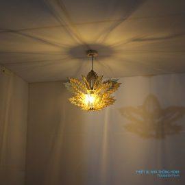đèn gỗ hình lá phong HT638