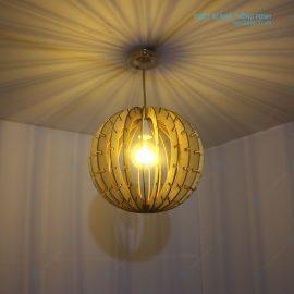 đèn hình càu bằng gỗ ở Hà Nội Ht599