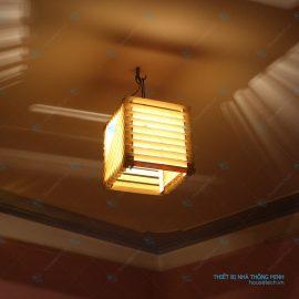 đèn thả trần bàn ăn bằng gỗ