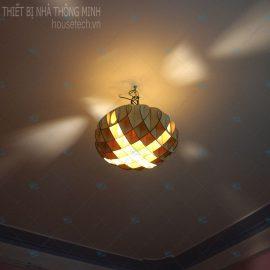 Đèn trần gỗ phòng khách