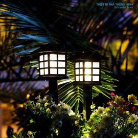 Đèn trang trí bồn hoa