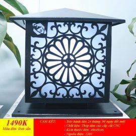 Đèn trụ điện hình hoa cúc